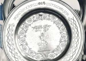 Erstgewinn 1718 Silberschüssel