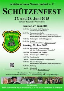 Schützenverein Neuwarendorf Plakat 2015 A4_