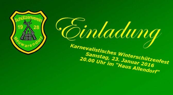 Einladung Winterschützenfest 2016
