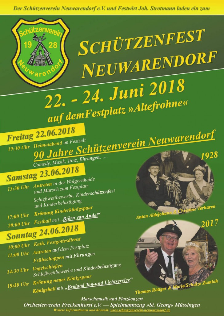 Schützenverein Neuwarendorf Plakat 2018 Web1